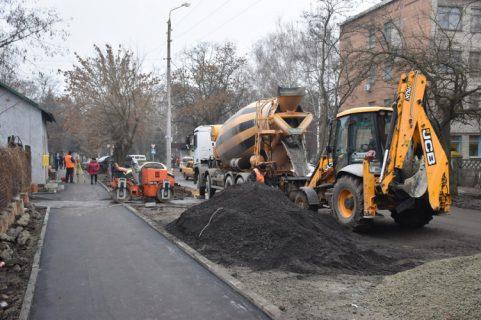 роботи з відновлення тротуарів